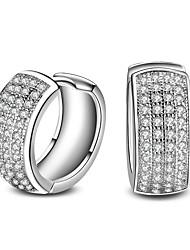 Homens Mulheres Moda Adorável Euramerican Estilo simples Clássico Elegant bijuterias Prata Chapeada Forma Redonda Forma Geométrica Jóias