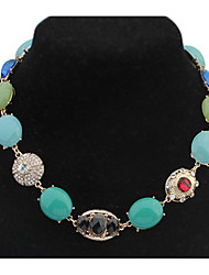 Sweet Colorful Euramerican Africa Hypoallergenic Statement Strands Collar Choker Rhinestone Necklaces