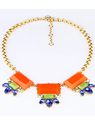 Women's Strands Necklaces Flower Chrome Unique Design Orange Jewelry For Gift Daily 1pc