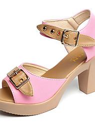 Damen-Sandalen-Outddor-PU-Blockabsatz-Komfort-