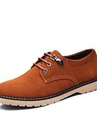Chaussures de sport pour hommes confort de printemps cuir suède décontracté chameau bleu marine noir
