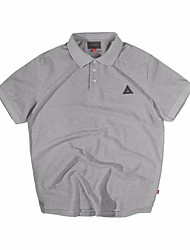 Herren Solide Einfach Lässig/Alltäglich T-shirt,Klassischer Kragen Kurzarm Baumwolle