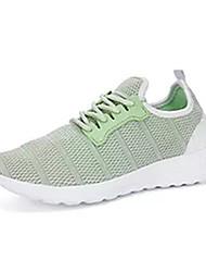 Femme Chaussures d'Athlétisme Confort Tulle Printemps Automne Décontracté Marche Confort Combinaison Talon Plat Blanc Noir Gris Vert clair