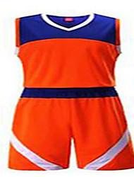 Herrn Kurze Ärmel Basketball Kleidungs-Sets/Anzüge Kurze Hosen Atmungsaktiv Komfortabel Orange Schwarz/rot Grün + grau L XL XXL XXXL