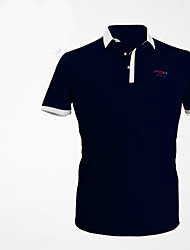 Unisex Short Sleeve Golf Tops Breathable Sweat-wicking Comfortable Dark Navy Green Red Golf Leisure Sports