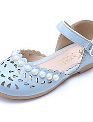 Para Meninas-Sandálias-Buraco Shoes Conforto Menina Flor Shoes-Rasteiro--Couro Ecológico-Festas & Noite Social Casual
