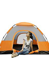 3-4 Personen Zelt Einzeln Automatisches Zelt Einzimmer Camping Zelt 2000-3000 mm Glasfaser PU OxfordFeuchtigkeitsundurchlässig
