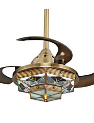 42inch Ceiling Fan Tiffany Bronze Feature for LED Designers Copper Living Room Bedroom Dining Room Study Room/Office