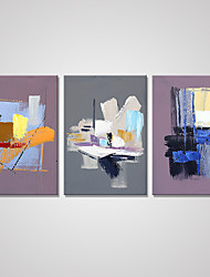 Stretched Canvas Print Abstract Modern,Three Panels Canvas Vertical Print Wall Decor For Home Decoration