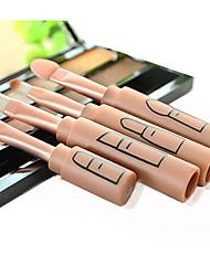 4.0 Conjuntos de pincel Pêlo Sintético Portátil Viagem Profissional Cobertura Total Plástico Olhos Lábios
