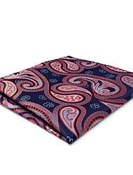 CH29 New Business Mens Classic Pocket Square Hanky Blue Orange Paisley 100% Silk Handmade