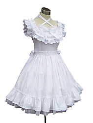One-Piece/Dress Sweet Lolita Princess Cosplay Lolita Dress Solid Sleeveless Knee-length Dress Petticoat For Cotton
