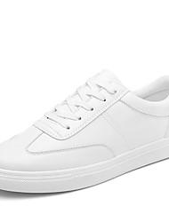 Unisex-Sneakers-Casual-pattini delle coppiePU (Poliuretano)-Bianco Nero Marrone Rosa