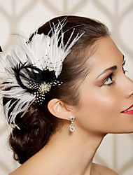 Hand Made Wedding Feather Hair Fascinator Headpieces Fascinators Headbands Hair Accessories Feather Wigs Accessories For Women 023
