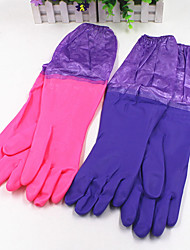 Warm Keeping Velvet Beam Cleaning Gloves (Random colors)