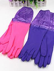 Warm Keeping Velvet Beam Cleaning Gloves (Random colors)