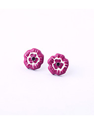 Stud Earrings Crystal Euramerican Personalized Chrome Flower Candy Pink Jewelry For Housewarming Thank You Business 1 pair