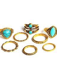 Ring Midi Rings Turquoise Basic Unique Design Turkish Euramerican Handmade Fashion Vintage Bohemian Personalized Classic DIYTurquoise