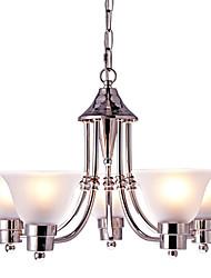Lampe suspendue ,  Contemporain Traditionnel/Classique Nickel Fonctionnalité for Style mini Designers Style Bougie MétalSalle de séjour