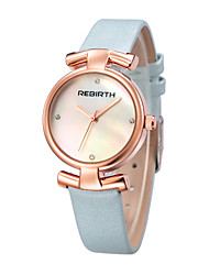 REBIRTH®Women's Fashion Watch Japanese Japanese Quartz / PU Band Casual Black White Blue Pink Rose Gold Light Blue Blushing Pink Black White