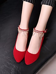 Women's Wedding Shoes Spring Comfort PU Casual Red Black