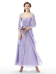 LAN TING BRIDE Floor-length Sweetheart Spaghetti Straps Bridesmaid Dress Sleeveless Chiffon