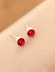 Small And Exquisite Exquisite Multicolor Small Round Stud Earrings