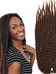 crochet braided hair Kanekalon Fiber Braiding Hair 22inch 12Roots Ombre 3D Cubic Twist Crochet Hair Braid Extensions 6-8pieces make full head