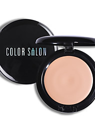 Color Salon Compact Face Foundation Cream Silky Natural Strong Coverage Moisturizing Brighten Makeup Long-lasting Cosmetic