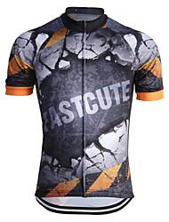 Manga Curta Camisa para Ciclismo Homens Moto Camisa/Roupas Para Esporte Respirável Secagem Rápida Redutor de Suor Coolmax Clássico
