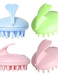 Electric Waterproof Cute Rabbit Head Massager Magic Shampoo Massage Comb Bath Massage Scalp Care Vibrating Brush