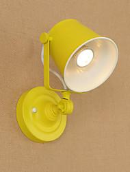 Qsgd ac220v-240v 4w e27 luz led lâmpada de parede pintada de aço lâmpada dumb black american coffee decoração retro luz de parede