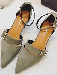 Women's Heels Light Up Shoes Satin Nylon Sheepskin Cashmere Office & Career Casual Low Heel Almond Beige Black