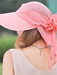 Feminino Casual Algodão Verão Chapéu de sol,Patchwork