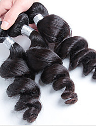 300g 3pcs/Lot 8-26Raw Brazilian Virgin Hair Natural Black Loose Wave Human Hair Weaves Low Price Hot Sale.