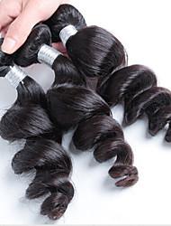 300g 3pcs/Lot 8-26Raw Brazilian Virgin Hair Natural Black Loose Wave Human Hair Weaves Low Price Hot Sale.