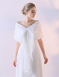 Women's Wrap Shawls Polyester Wedding Flower(s)