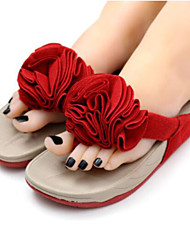 Women's Slippers & Flip-Flops Summer Slingback Rubber Casual Flat Heel Red Purple