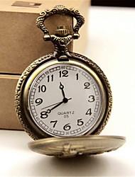 Homens Relógio de Bolso Quartzo Lega Banda Bronze