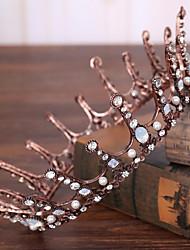 Strass alliage imitation perle tête-mariage occasion spéciale tiaras extérieurs 1 pièce