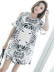 Maternity Summer Wear Fashionable Sweet  Chinese Wind Restoring Ancient Ways Of Printing Off-the-shoulder  Together Leisure Pregnant Women Dress