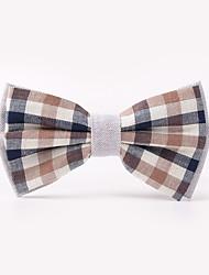 The Fashion Leisure Clothing Accessories CB01907 Cotton Men's Plaid Bow Tie