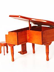 Caixa de música quadrado feriado fontes madeira unisex