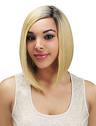 Ombre Black and Blonde Wigs 14 inches Halloween Party Short Straight Bob Hair Wigs