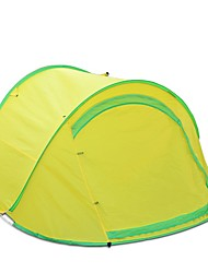 2 Pessoas Tenda Único Tenda Automática Um Quarto Barraca de acampamentoCampismo Viajar-Amarelo