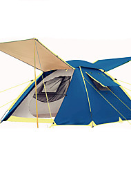3-4 persons Tent Double Automatic Tent One Room Camping Tent 2000-3000 mm Iron OxfordMoistureproof/Moisture Permeability Waterproof