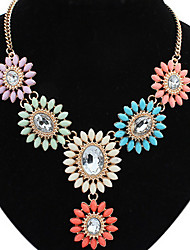 Big Fan Africa Euramerican Long Colorful Rhinestone Pendant Sweater Chain Necklace Y-Necklaces Statement Jewelry
