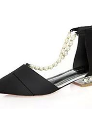 Women's Sandals Gladiator Suede Spring Casual Gladiator Imitation Pearl Flat Heel Black Gray Ruby Flat