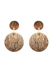 Women's Girls' Drop Earrings Jewelry Circular Unique Design Tag Geometric Euramerican Statement Jewelry Classic Fashion Personalized