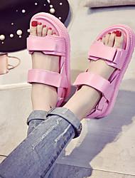 Damen-Sandalen-Lässig-PUKomfort-Blau Rosa